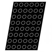 Форма конд. «Полусфера» [24шт]; D=8,H=4см