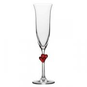 Бокал-флюте «Л`амор», хр.стекло, 175мл, D=70,H=242мм, прозр.,красный