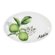 Блюдо овальное Зеленые яблоки