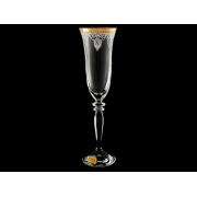 Бокал для шампанского Гармония Ледяной узор