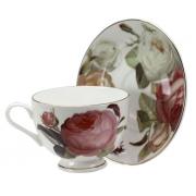 Набор кофейный, 6 перс, 12 пр, Торжество роз