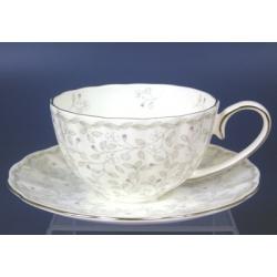 Н 1050021 Джулия ГРЭЙ 3 н-р 250мл чашек чайных с блюдцем 6/12 (плат.лента)