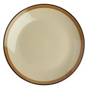 Тарелка мелкая «Фоголар», D=27см, бежев.,коричнев.