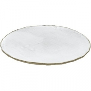 Тарелка бетон D=28см; белый, серый