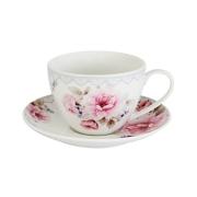 Чашка с блюдцем Розовый блюз