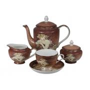 Сервиз чайный 6 перс 17 пр Женщины-цветы