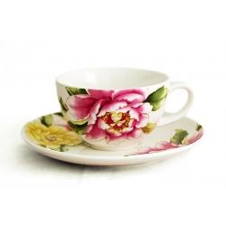 Чашка с блюдцем «Японские пионы»  0,25 л