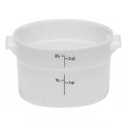 Контейнер для пищев. продуктов, полиэтилен, D=37.8,H=38см, белый