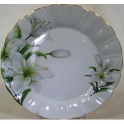 Набор из 6 обеденных тарелок «Лилия» 25 см