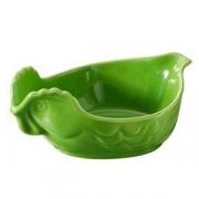 Блюдо для дичи, фарфор, H=60,L=151,B=105мм, зелен.