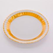 Набор тарелок «Лента Рельеф золото» 24 см. 6 шт.