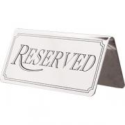 Табличка «Резерв»