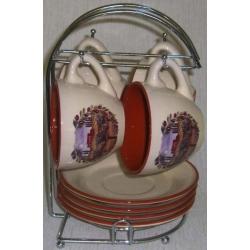 Чайный набор на металлической подставке «Сицилия»