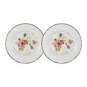 Набор из 2-х десертных тарелок Розы
