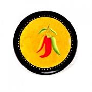 Набор 4 тарелки 22см «Красный перец»