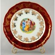 Набор тарелок «Мадонна красная» 24 см. 6 шт.