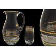 Набор для воды (кувшин + 6 стаканов) Платиновая коллекция