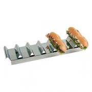 Подставка для бутербродов на 7шт., сталь нерж., L=47.5,B=10.5см