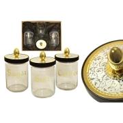Набор из 3-х банок для сыпучих продуктов Dubai Gold/Silver