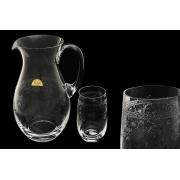 Набор для воды (кувшин + 6 стаканов) Европейский декор