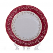 Набор тарелок «Мария - Лист красный» 27 см.