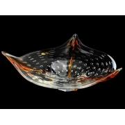 Салатник 40 см прозрачный+амбер «янтарный блюз»