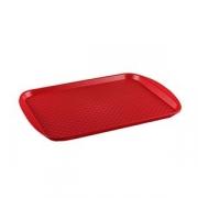 Поднос прямоуг.; пластик; H=2,L=45,B=35см; красный