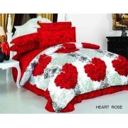Постельное белье ARYA печатное 160х220 HEART ROSE