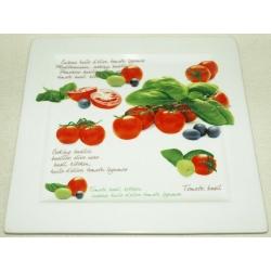 Блюдо квадратное «Помидоры» 25х25 см