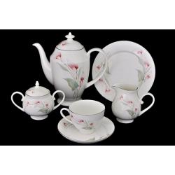 Чайный сервиз «Розовые каллы» 40 предметов на 12 персон