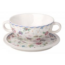 Суповая чашка на блюдце «Букингем» Объем 0,5 л