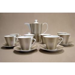 Чайный сервиз на 6 персон, 17 пр. «Золотой шелк»