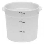 Контейнер для пищев.продуктов, полиэтилен, D=25.2,H=20.2см, белый
