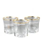 Бокал для виски 6 шт Сабина - золото