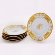 Набор тарелок 17 см. 6 шт. «Кленовый лист белый»