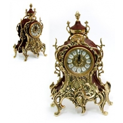 Часы с кубком комб. кожей 34х19 см.