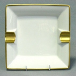 Пепельница «Ева» 19 см; декор «Отводка золото»
