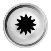 Насадка кондит. «12-конечная звезда», сталь нерж., D=22,H=27мм, металлич.