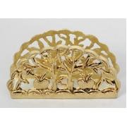 Салфетница золотистый 6,5х15 см.