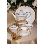 Набор 6 тарелок суповых 23см «Ноктюрн золотой»