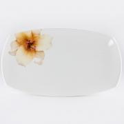 Блюдо прямоугольное 25,4см «Бежевая лилия»