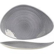 Блюдо «Скейп грей» L=37.5см; серый