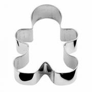 Форма конд. «Пряничный человечек», сталь нерж., H=3,L=8,B=6см, металлич.