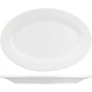 Блюдо овал. «Кунстверк» H=2.2, L=31, B=21.7см; белый
