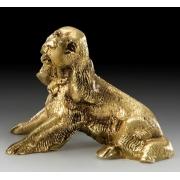 Собачка кокер-спаниель цвет - золото 10х13см