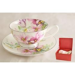 Чашка с блюдцем «Розовые лилии» 0.2 л