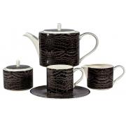 Набор 6 чайных пар 210мл «Саби черный»