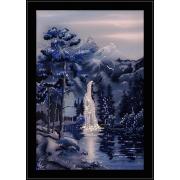 Водопад в ночи, 50х70 см, 2003 кристаллов