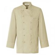 Куртка поварская,р.44 без пуклей, полиэстер,хлопок, бежев.
