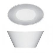 Салатник овал. «Опшенс», фарфор, L=14см, белый